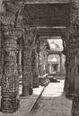INDIA. A Jain temple, Mount Abu c1885 old antique vintage print picture